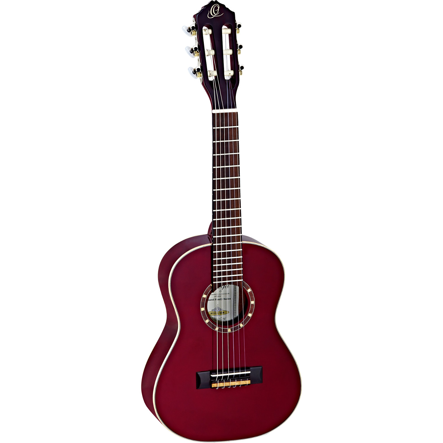 Ortega Family Series R121 1 4 wine red with gig bag