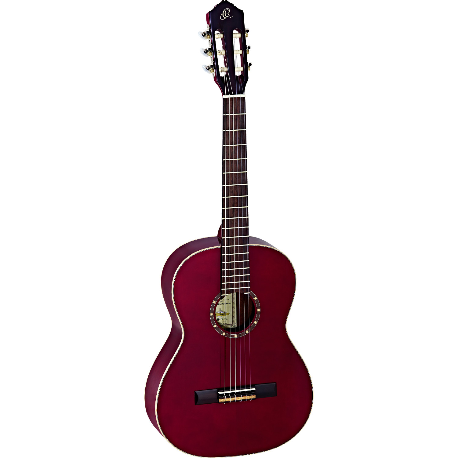 Ortega Family Series R121 7 8 wine red with gig bag