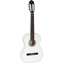 Ortega Family Series R121-7/8 classical guitar, white, with gig bag