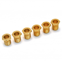 Fender 005-8821-049 American tuner bushings, gold, set of 6