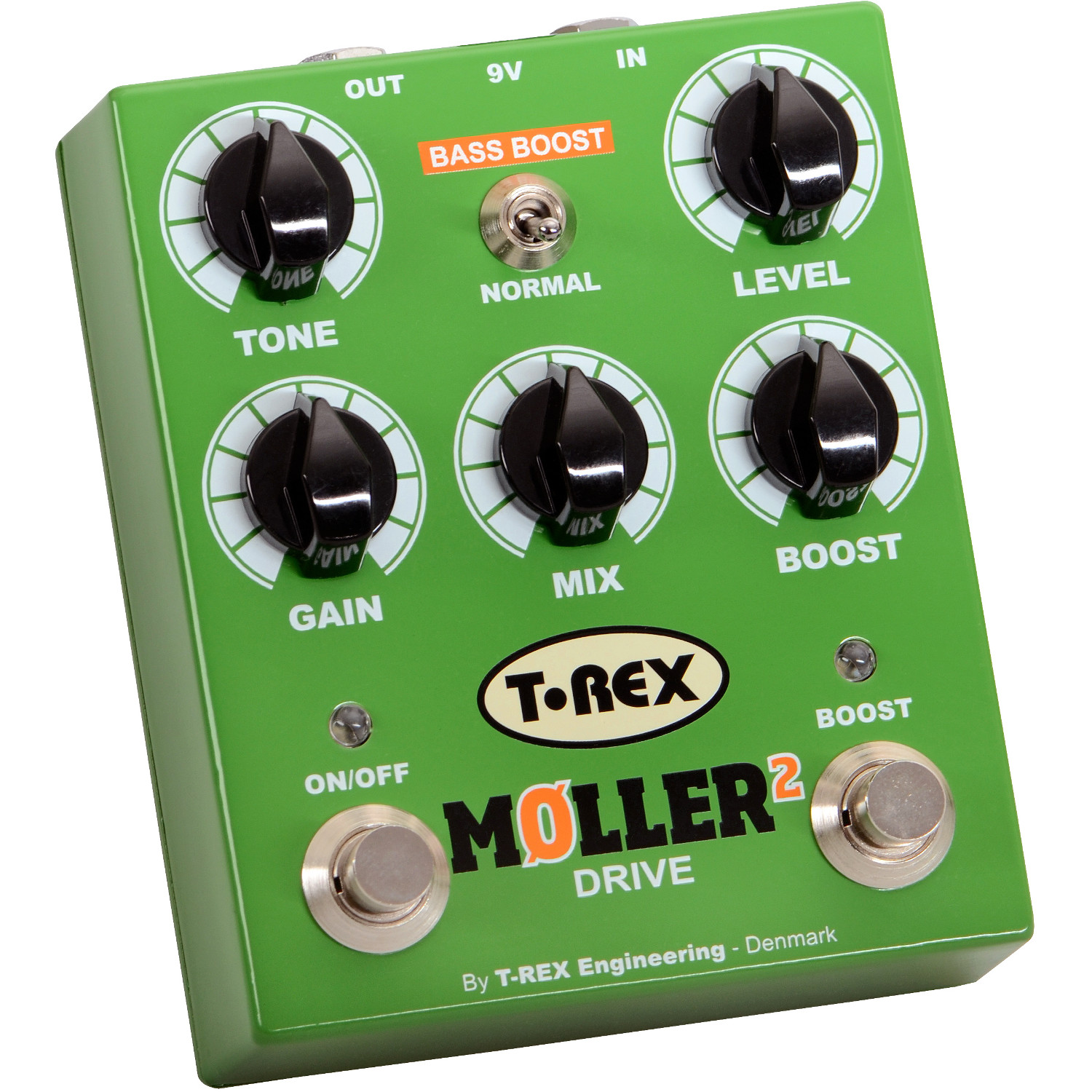 (B Ware) T Rex Moller 2 Classic Overdrive Pedal mit Clean Boost