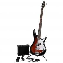 Ibanez IJSR190-WNS electric bass guitar Jumpstart Pack Burst