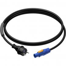 Procab PRP432/3 powerCON - male Schuko power cable, 3 m