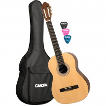 Cascha HH 2042 classical guitar starter set with bag and plectrum