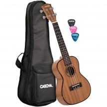 Cascha HH 2035 premium concert ukulele with bag and plectrums