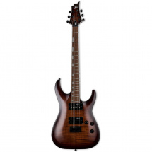 ESP LTD H-200FM electric guitar, Dark Brown Sunburst