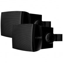 Audac WX802OB outdoor speaker set, 8-inch, 100V, black
