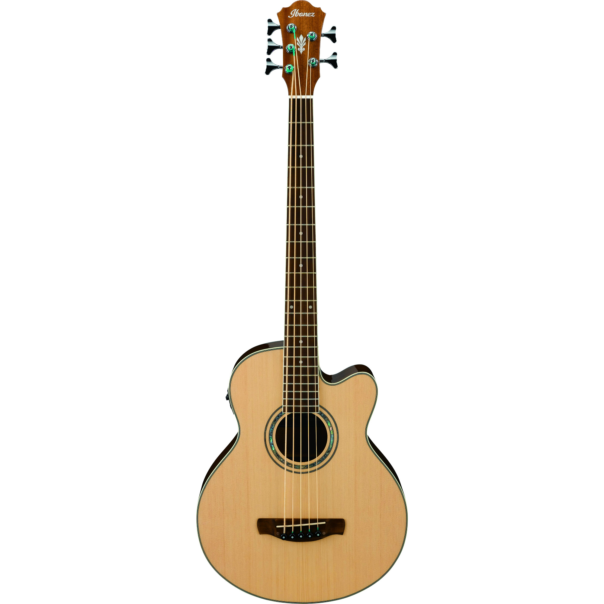 Ibanez AEB105E Natural High Gloss electro acoustic 5 string bass guitar