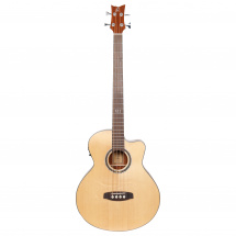 Ortega Deep Series 5 D538-4 electro-acoustic bass guitar, Open Pore Natural