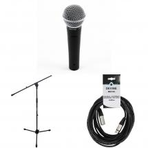 Shure SM58 LCE with stand and cable