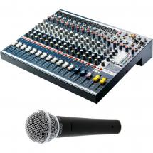 Soundcraft EFX12 with Shure SM58 LCE