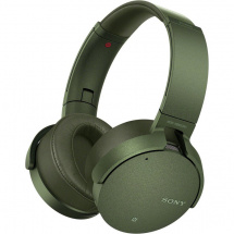 Sony MDR-XB950N1 wireless headphones with ANC, green