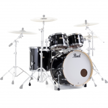 Pearl STS924XSP Session Std. Select 4-piece shell set, Piano Black