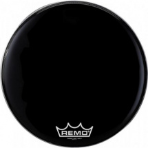 "(B-Ware) Remo PM-1814-MP 14"" Powermax Black Suede Marching Drumfell"