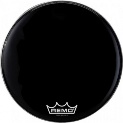 """(B-Ware) Remo PM-1814-MP 14"""" Powermax Black Suede Marching Drumfell"""