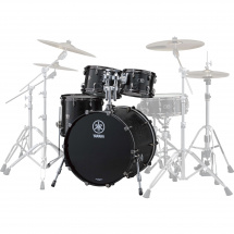 Yamaha Live Custom 4-piece shell set, 20-inch, Black Wood