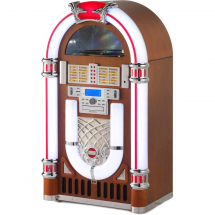 (B-Ware) Ricatech RR2100 Classic LED Jukebox Bluetooth, brown