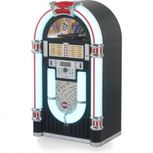 (B-Ware) Ricatech RR3000 Classic LED Jukebox with Bluetooth, black