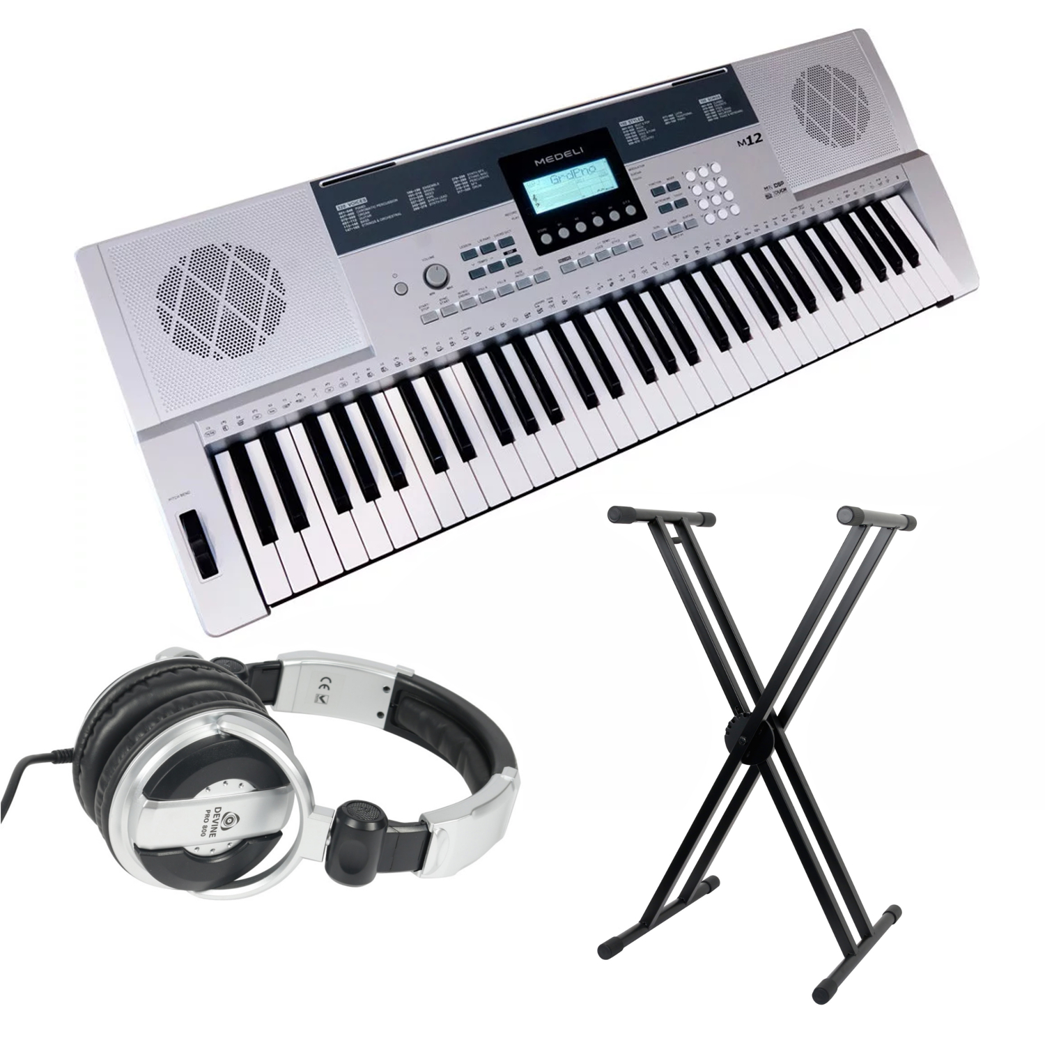 Medeli M12 starter set with stand and headphones