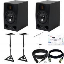 Adam A7x (x2) + monitor calibration + stands + cables