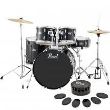 Pearl RS525SC/C31 Roadshow drum kit starter set, Jet Black