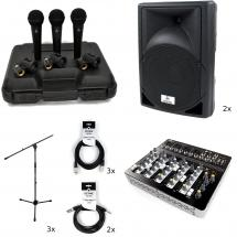 Devine DM 10 vocalset XL microphones (x3) + speakers (x2) + mixer