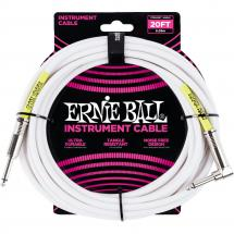 Ernie Ball 6047 Classic Instrument Cable, 6 m, white