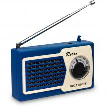 Ricatech PR22 BLUE compact retro radio, blue