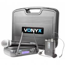 Vonyx WM73C 2-channel UHF wireless microphone system