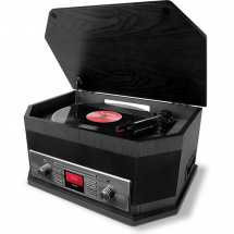 ION Octave LP multimedia player with turntable, black