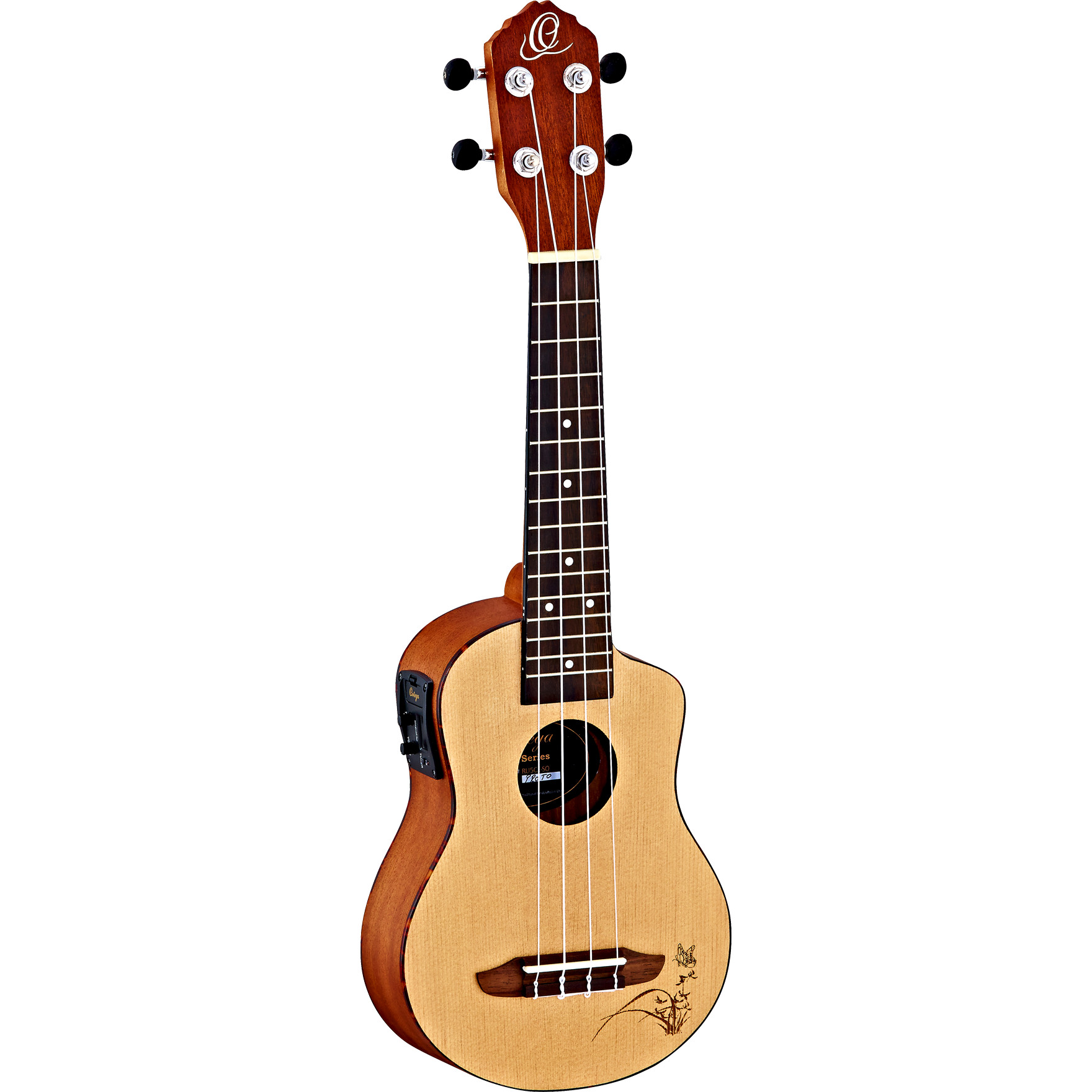 Ortega Bonfire Series RU5CE SO soprano ukulele