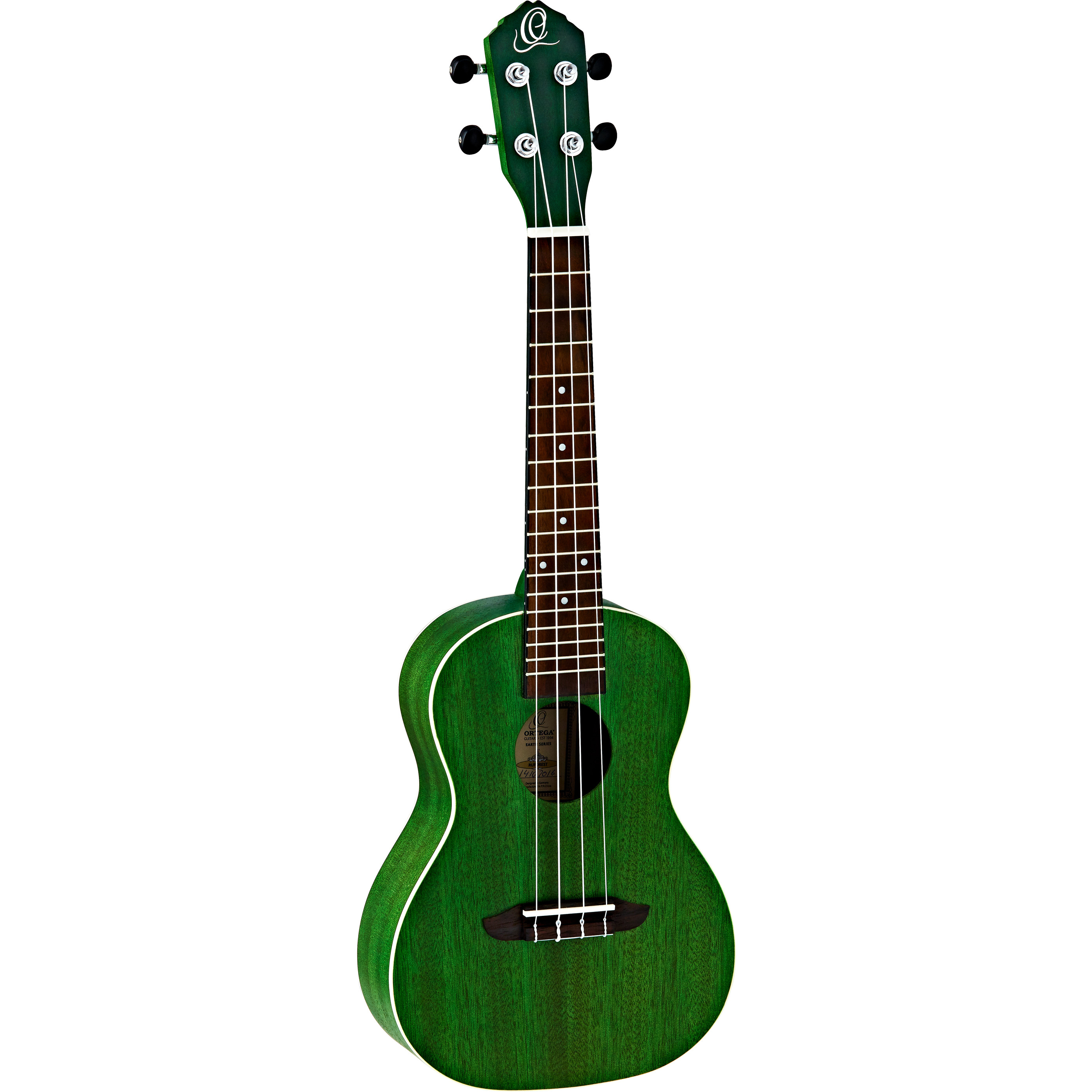Ortega Earth Series RUFOREST concert ukulele, green