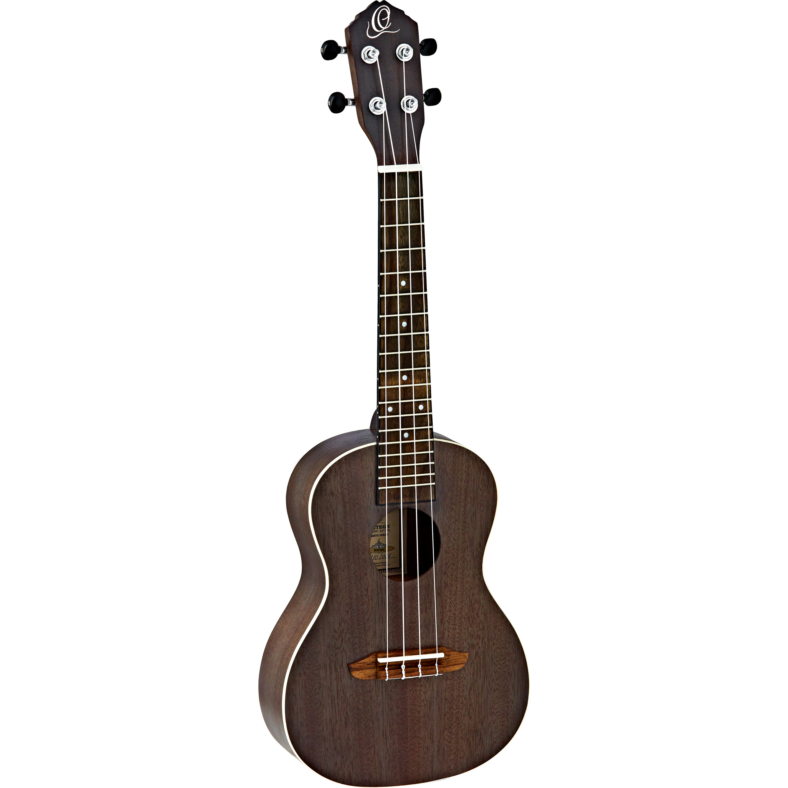 Ortega Earth Series RUCOAL concert ukulele, black
