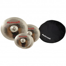 Masterwork Troy cymbal set, 14, 16, and 20-inches + cymbal bag