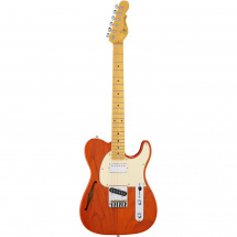 (B-Ware) G&L Tribute ASAT Classic Bluesboy Semi-Hollow E-Gitarre, Clear Orange