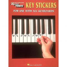 Hal Leonard E-Z Play key stickers
