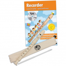 Cascha HH 1510 EN Soprano Recorder Set (Baroque fingering) +book, CD (ENG)