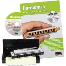 Cascha HH 1600 EN Blues Harmonica Set + book, CD (ENG)