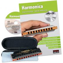 Cascha HH 1610 EN Prof. Blues Harmonica Set + book, CD (ENG)
