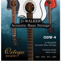 Ortega ODW-4 string set for short-scale acoustic bass guitar