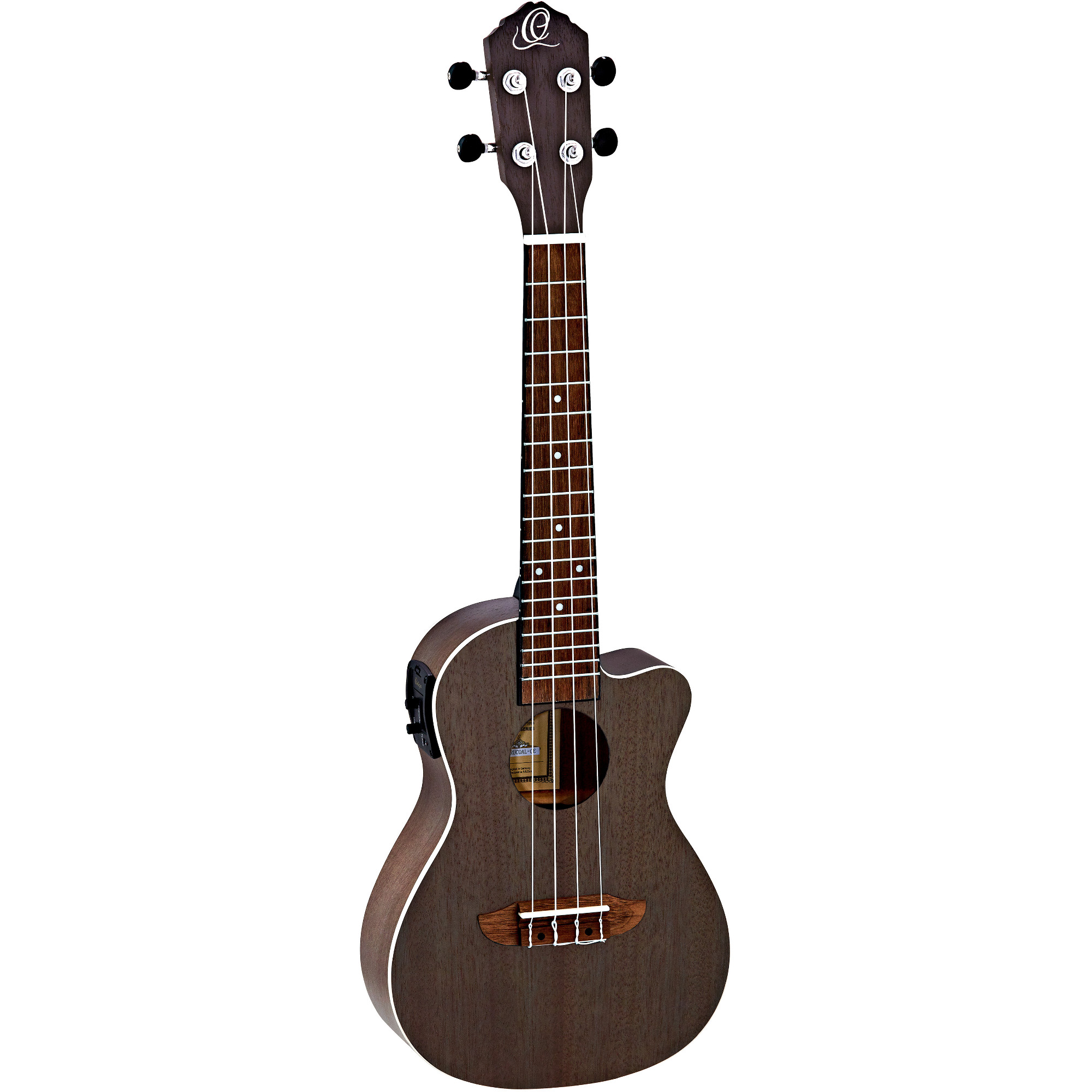 Ortega Earth Series RUCOAL CE concert ukulele, brown