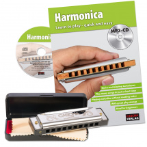 Cascha HH 1620 EN Special Blues harmonica set (+ book etc.)