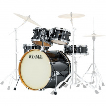 Tama VD52KRS-BCB Silverstar Brushed Charcoal Black 5-piece shell set