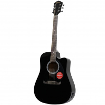 (B-Ware) Fender FA-125CE Dreadnought Black electro-acoustic steel-string guitar