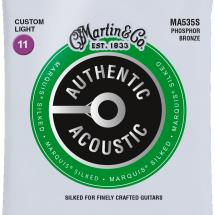 Martin Strings MA535S Authentic Acoustic Silked Phosphor Bronze