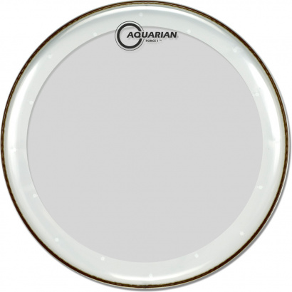 Aquarian 18-inch Full Force I Bassdrum-Schlagfell, transparent