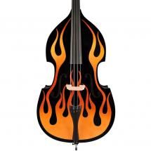 Leonardo DB-134-BKFL 3/4 double bass, black with hot rod flames