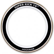 Aquarian 20 Zoll Super Kick Ten Schlagfell für Bass Drum, transparent