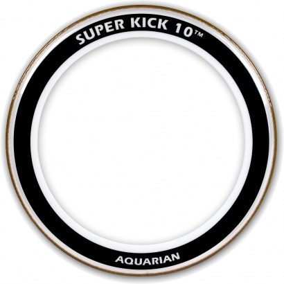 Aquarian 24-inch Super Kick Ten Schlagfell für Bass Drum, transparent