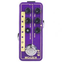 Mooer Micro Preamp 019 UK Gold PLX overdrive effects pedal